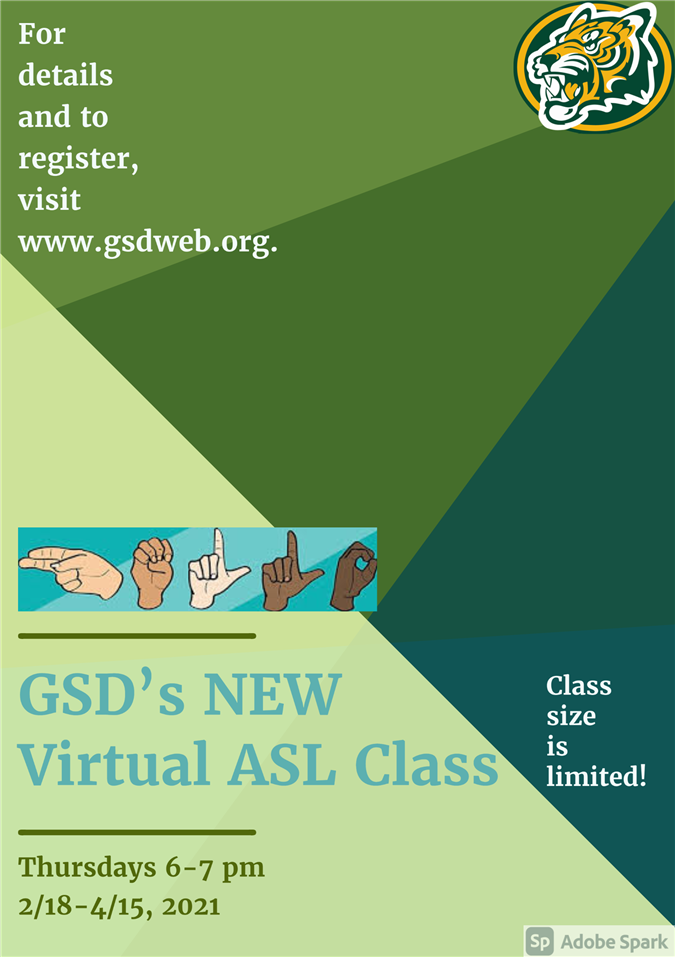 flyer advertising ASL class. See pdf for details.